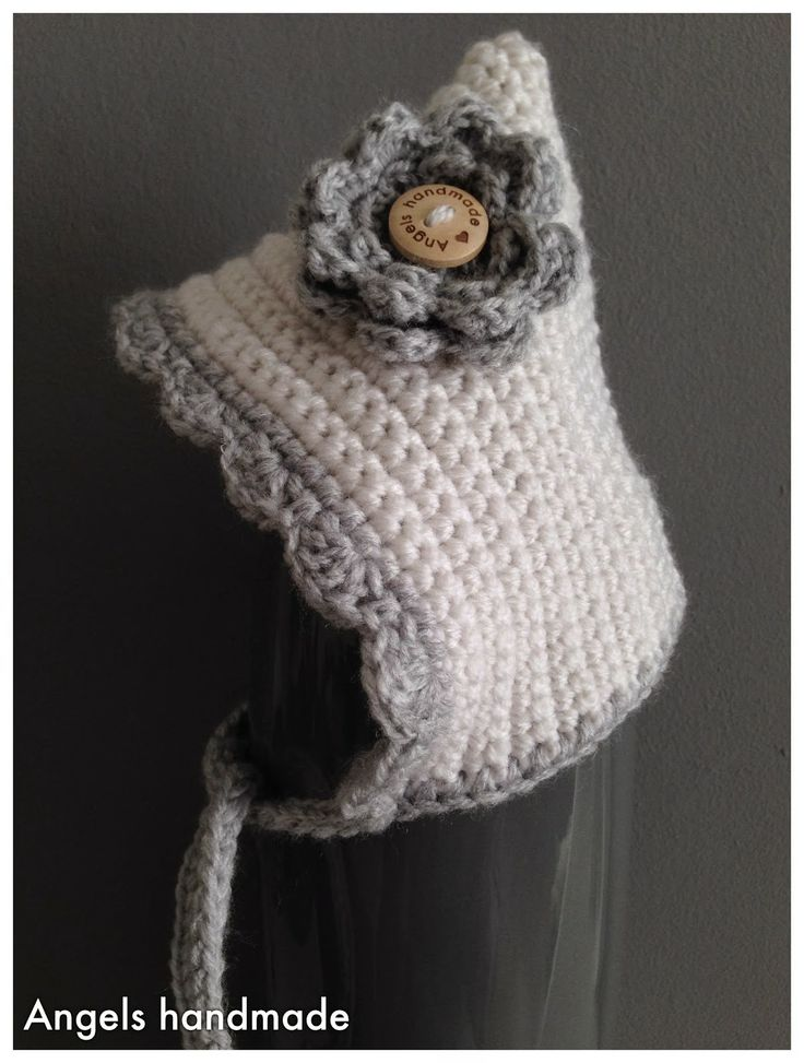 Gehaakte babymutsje #crochet baby bonnet hat