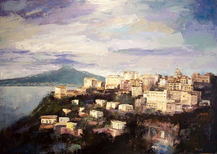 """""""Sorrento"""" - olio su tela  50 x 70 cm, 2008 (Artist: Franco Tomassoli)"""