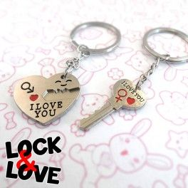 There're so many ways to say someone how much you care about him/her… the keychain Lock & Love is one of the best ways. Find it on www.Delicute.com