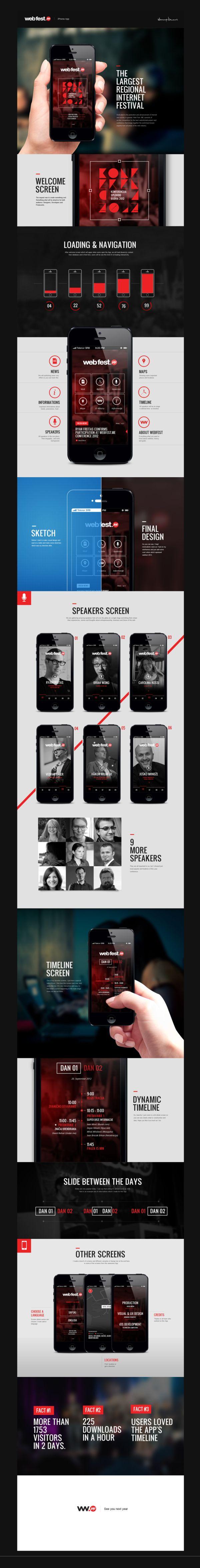 WebFest - #iPhone #App by Nemanja Ivanovic, via #Behance #UI #Mobile