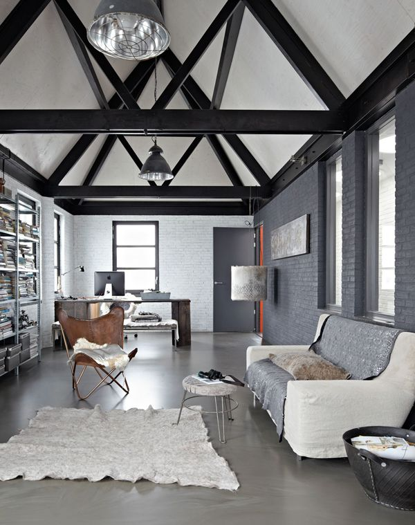 44 best monochromatic color schemes images on pinterest for Monochrome interior design ideas