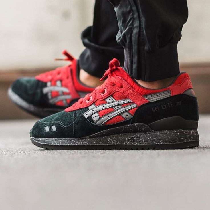 asics gel lyte red and black