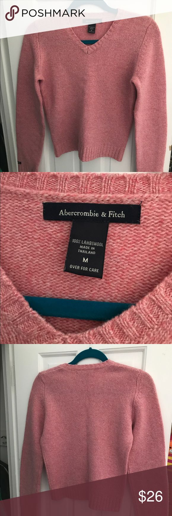 Vintage Lambwool Abercrombie and Fitch sweater Minor mark on the right sleeve. Great condition otherwise.  Thank you for looking!  I ship within 2 days shipping excluding holidays I do not trade! I only accept offers through the offer button! Thank you for shopping and feel free to ask any questions! Abercrombie & Fitch Sweaters V-Necks