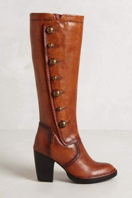 Website about boots for skinny calves.  Heath Button Boots--$300 at Anthropologie. Reputedly narrow-calf with slender ankles.