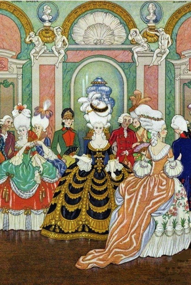 George barbier erotic fashion art deco illustrator - 3 part 2