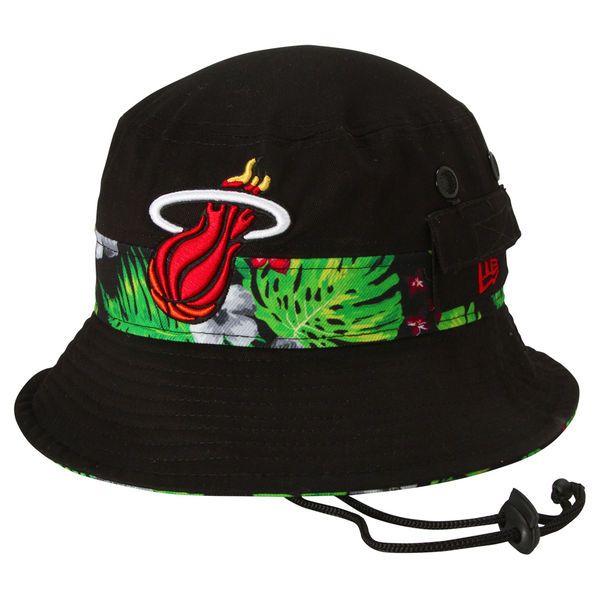 Miami Heat New Era Branded Floral Bucket Hat - Black - $29.99