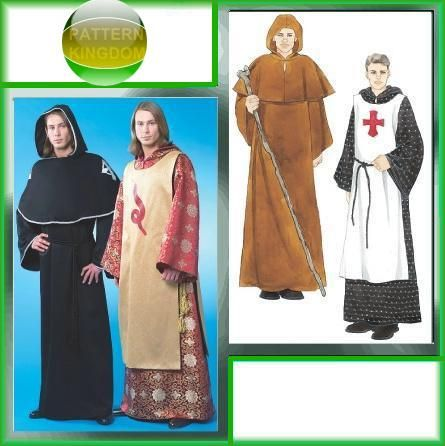 53acadc19a4 McCalls 4627 Knights Templar Medieval Cloak Monk Robe Patterns ...