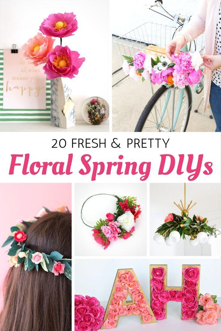 20 Fresh and Pretty Floral Spring DIYs