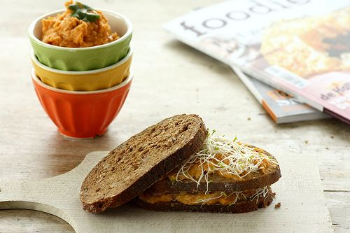 Veggie beleg met wortelen, kikkererwten en harissapasta - blog Ann Vertriest