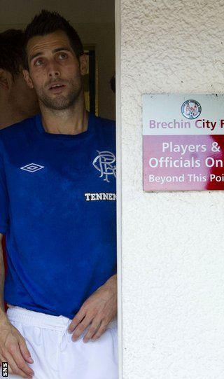 Bocanegra prepares to take to the field in unfamiliar surroundings for Rangers