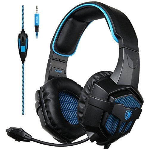 , Gaming Headsets Headphones For New Xbox one PS4 PC Laptop Mac Mobile (Black&Blue)