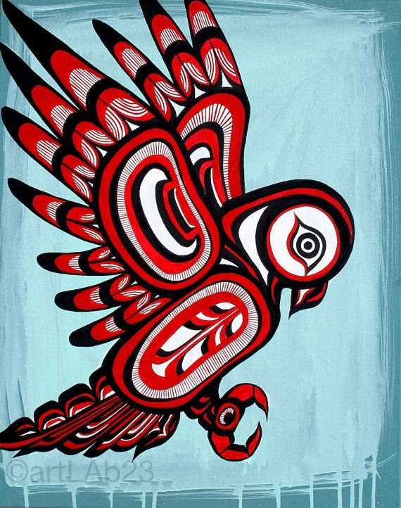 Native owl Painting Art Print 8x10 native american by ...