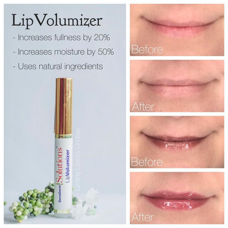 SeneGence LipVolumizer - (Personal results in pic in only 4 weeks time)! It's made my lips plumper & fuller Natural ingredients to build collagen production from inside out. It works gradually - not an instantaneous lip plumper that fades as the day goes on. With continued use lips will feel smoother, fuller & fine lines will begin to fill in! No chemical reaction/burning sensation. Safe on sensitive skin. Visit www.lastinglipsbylindsay.com or @lastinglips_by_lindsay on Instagram