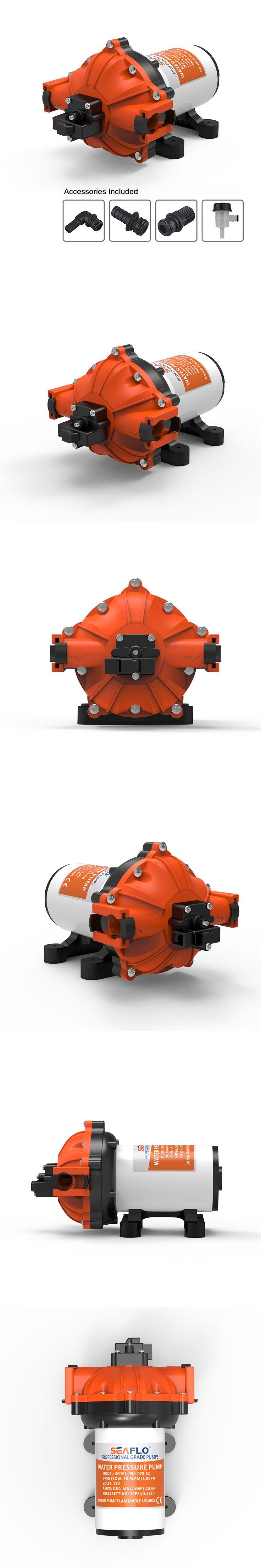 SEAFLO Water Pressure Pump 70PSI 18.9 LPM 12v Pump Caravan Positive Displacement Water Pumps in Agriculture