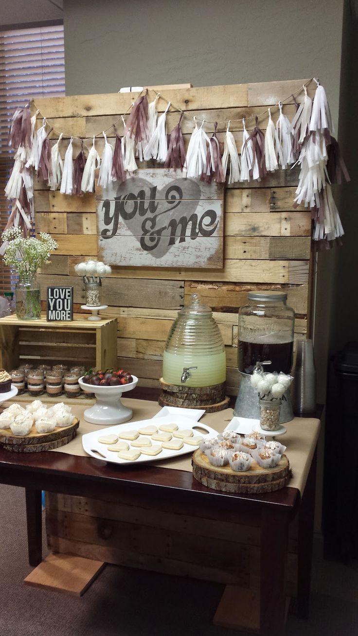 you & me {bridal shower dessert table} Bridal shower