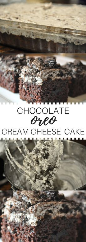 Decadent oreo cream cheese cake. 5 ingredients and a whole lot of heaven! This is a sought after recipe! You will LOVE IT!!