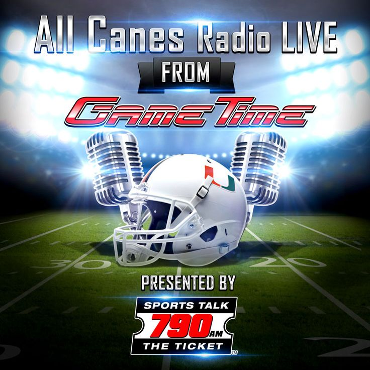 'allCanes Radio' live from GameTime Miami! We are so excited to have 'allCanes Radio' Broadcast LIVE from GameTime Miami on Thursdays from 7-9pm throughout UM Football Season! Join radio personality Brian 'The Beast' London as he hosts this popular live show on 790 The Ticket with the best Canes talk in South Florida! www.gametimeplayers.com #GTplayers #TheU #GoCanes #MiamiHurricanes #UniversityofMiami #Football #Miami #EventsMiami