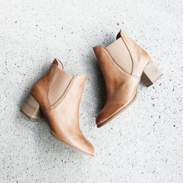 A good ankle boot is hard to find, so when you finally get your hands on these – hold on tight and don't let go! Made from supple leather, a sturdy stacked heel and subtle zig zag edging, this ankle boot will stick with you through thick and thin. Shop 'Sadore Tan' by Django & Juliette online at Styletread. Tan Ankle Boot | Classic | Leather | Flat Lay