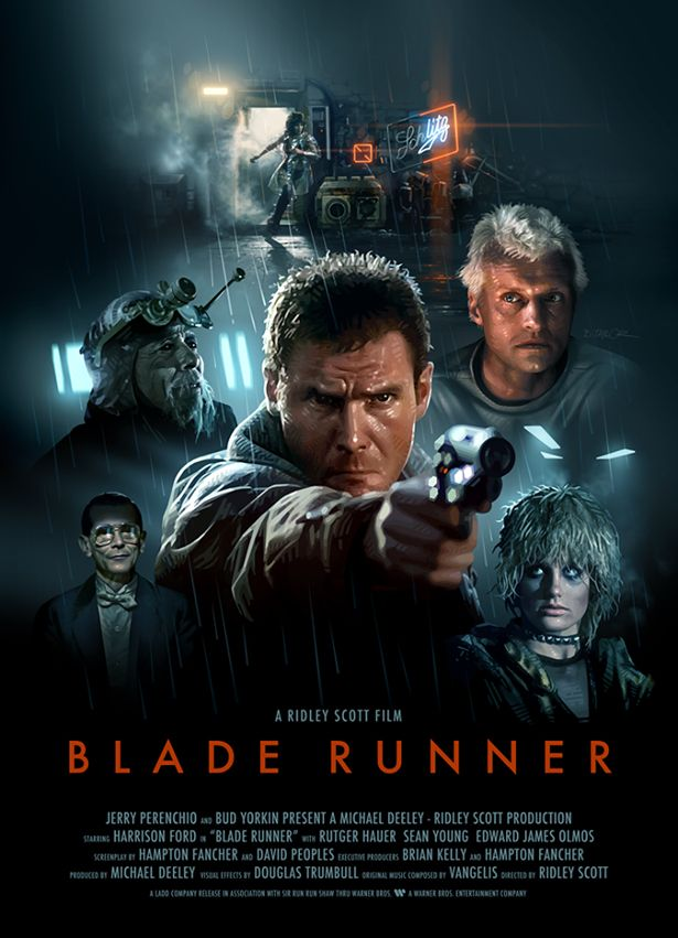 """Blade Runner"" (1982) What a great movie. One of the very few sci-fi movies I ever liked."