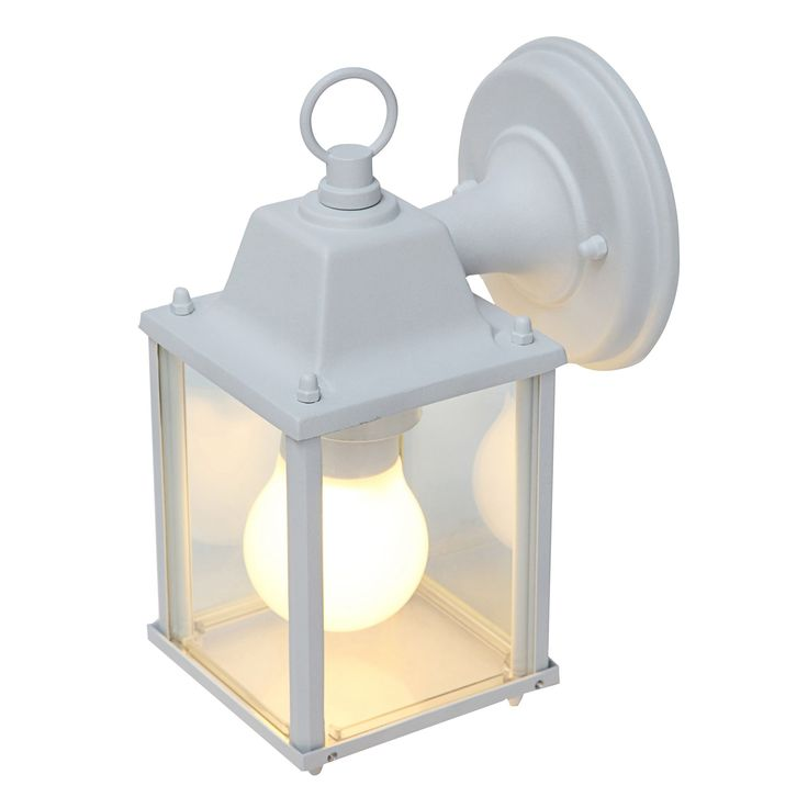 Blooma Sollies White Mains Powered External Wall Light   Departments   DIY at B&Q