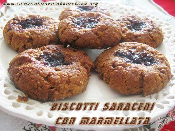 Biscotti #senzaglutine, #senzalatte, #senzalievito e senza zuccheri raffinati con  miele, noci e farina di grano saraceno