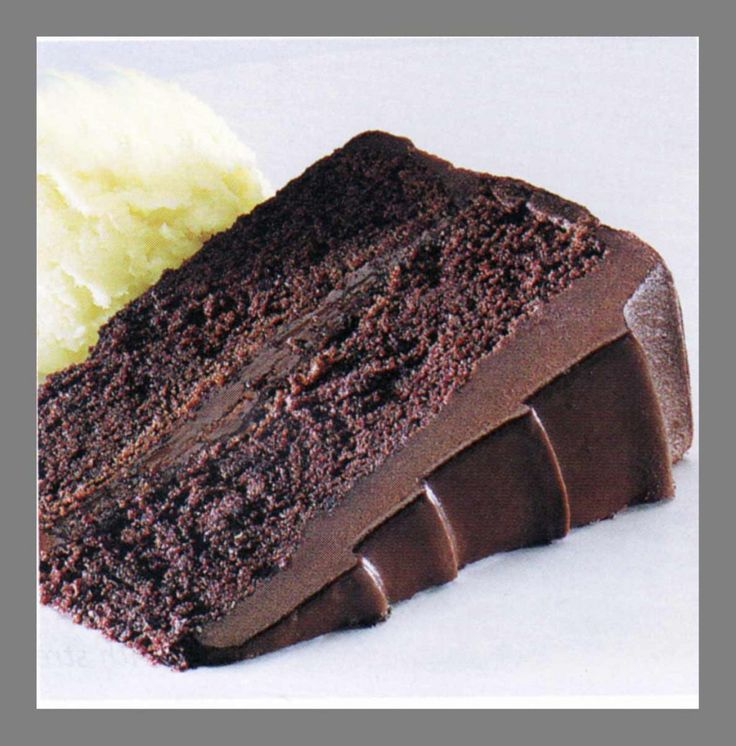 Chocolate Fudge Cake Recipe You'll Need: Ingredients:·1-2/3 cups all-purpose flour,·1 teaspoon baking soda,·1 teaspoon salt,·4 ounces unsweetened chocolate,·1/2 cup water,·1/2 cup butter, ·1-3/4 cups sugar,·3 eggs,·1 teaspoon vanilla, ·3/4 cup milk.