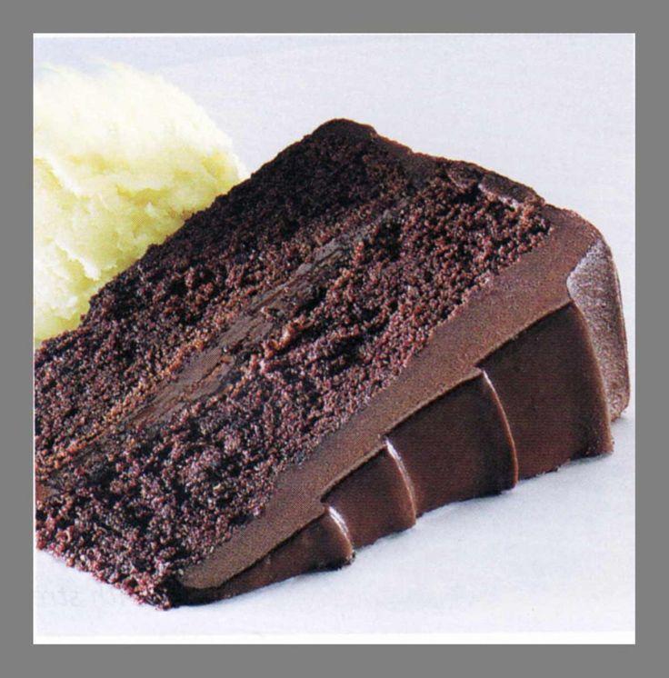 Chocolate Fudge Cake Recipe You'll Need: Ingredients:·1-2/3 cups all-purpose flour,·1 teaspoon baking soda,·1 teaspoon salt,·4 ounces unsweetened chocolate,·1/2 cup water,·1/2 cup butter, ·1-3/4 cups sugar,·3 eggs,·1 teaspoon vanilla, ·3/4 cup milk.