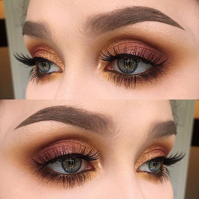 Copper, brown, gold eyeshadow