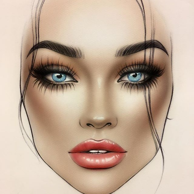 Face Chart Dibujos De Maquillaje Maquillaje De Ojos Artistico Disenos De Maquillaje