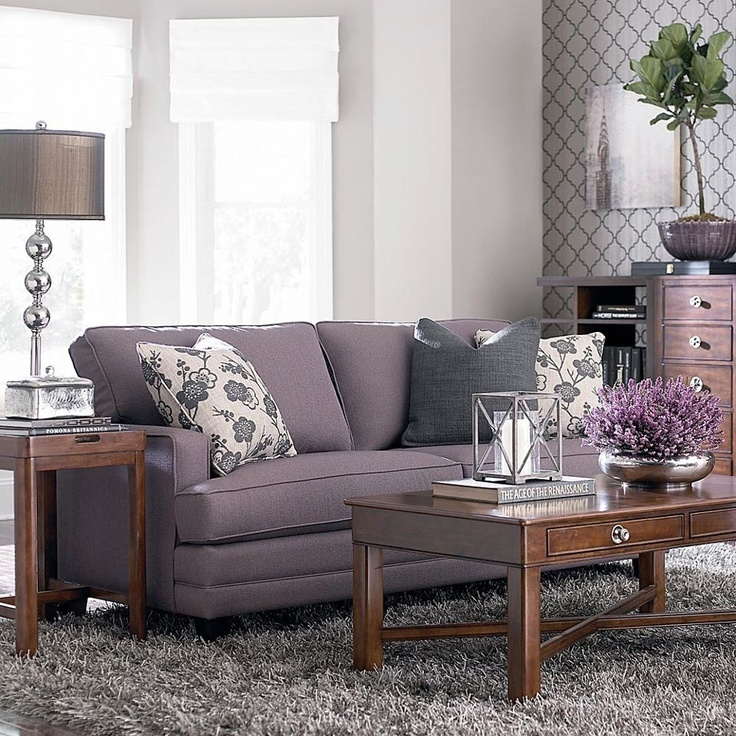 Lavender And Gray Living Room From Bassett Furniture. DROOL. Part 39