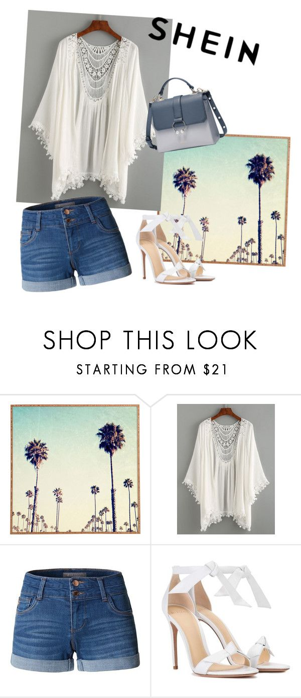 """""""Shein"""" by vania-pinho ❤ liked on Polyvore featuring LE3NO and Alexandre Birman"""