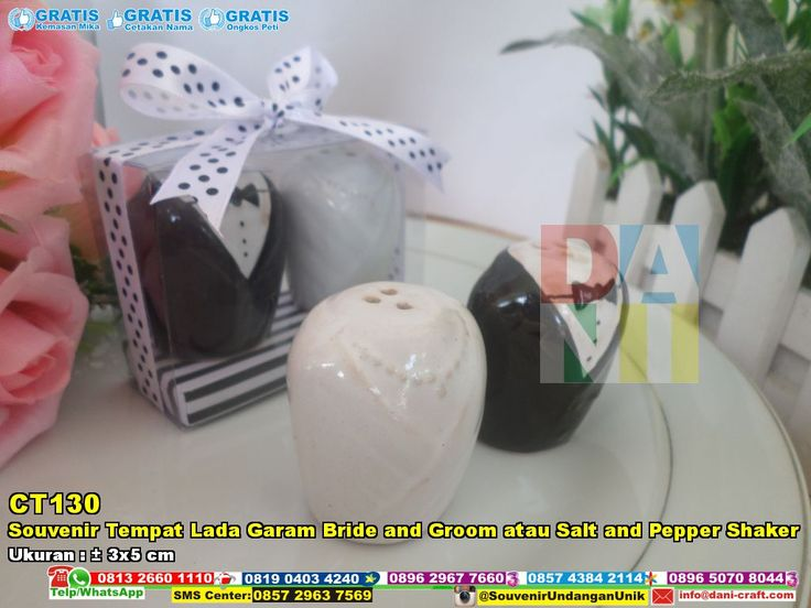 Souvenir Tempat Lada Garam Bride And Groom Atau Salt And Pepper Shaker | Souvenir Pernikahan