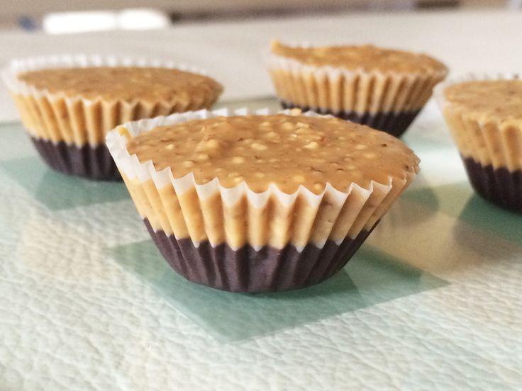 Čokoládové košíčky s arašídovým máslem a amarantem