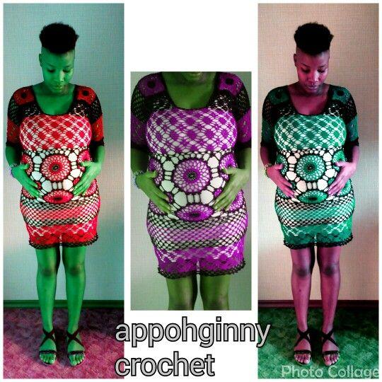 Beautifull baby shower crochet dress
