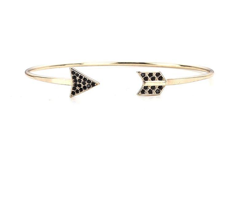 Golden Arrow Bangle Bracelet                      – Pink Fox Company