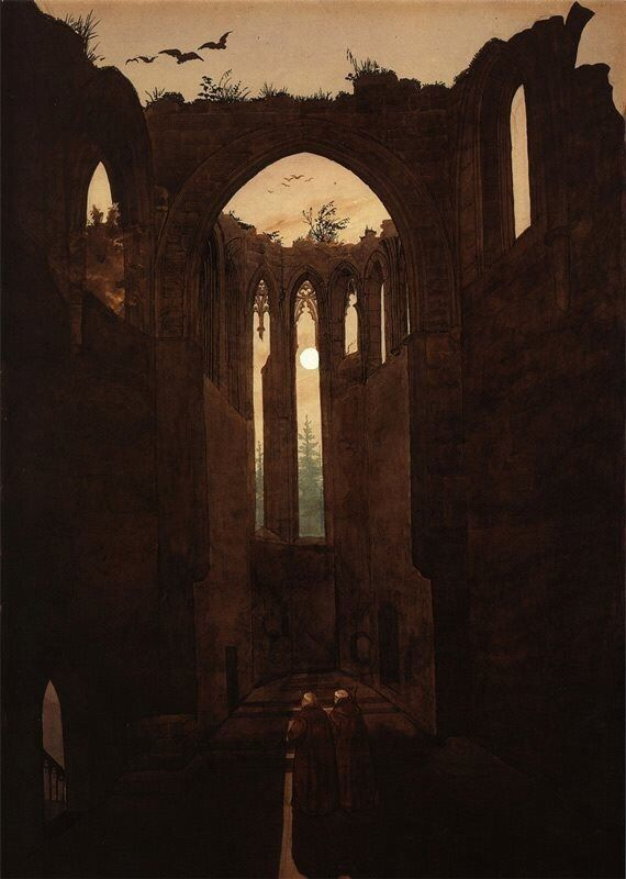 Ruins of the Oybin Monastery, Caspar David Friedrich