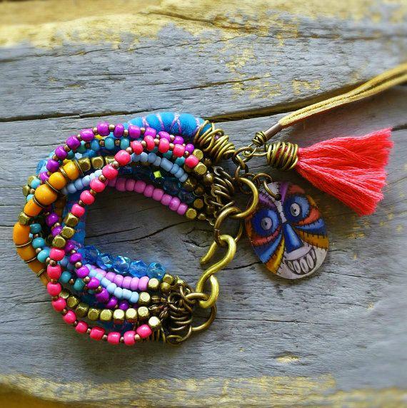 Gypsy Bohemian Ethnic Beaded bracelet
