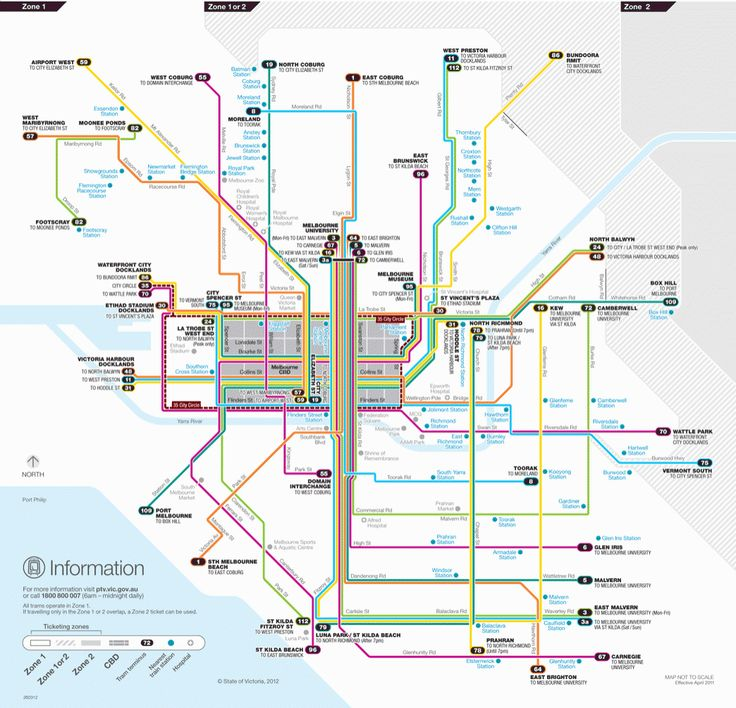 Metropolitan tram network map - Public Transport Victoria