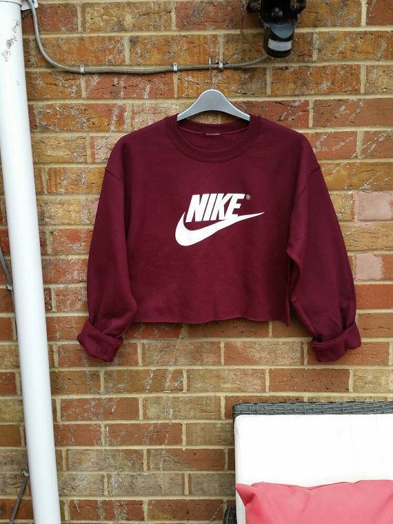 sassy customised nike cropped jumper sweatshirt festival swag