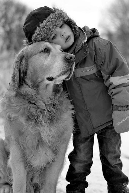 A boy and his dog!  Artists dream of doing pet portraits like this.  It has the ability to tell a story that should not be hid away in a photo album.