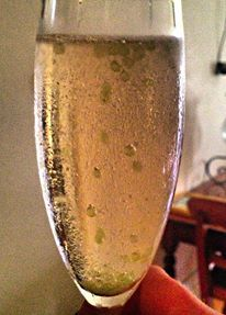Bubbles and Lime Caviar.