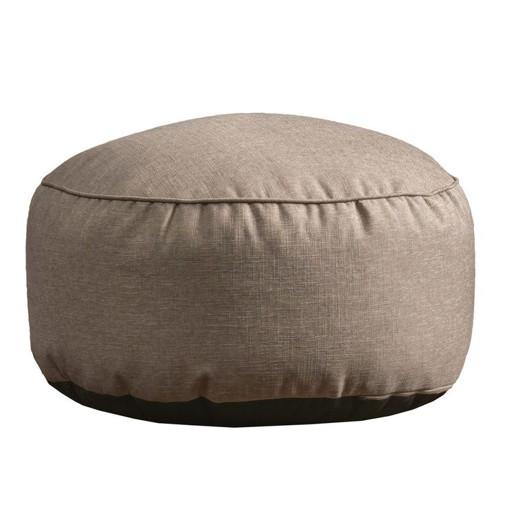 Domas Contemporary Bean Bag Ottoman - Beige - Christopher Knight Home
