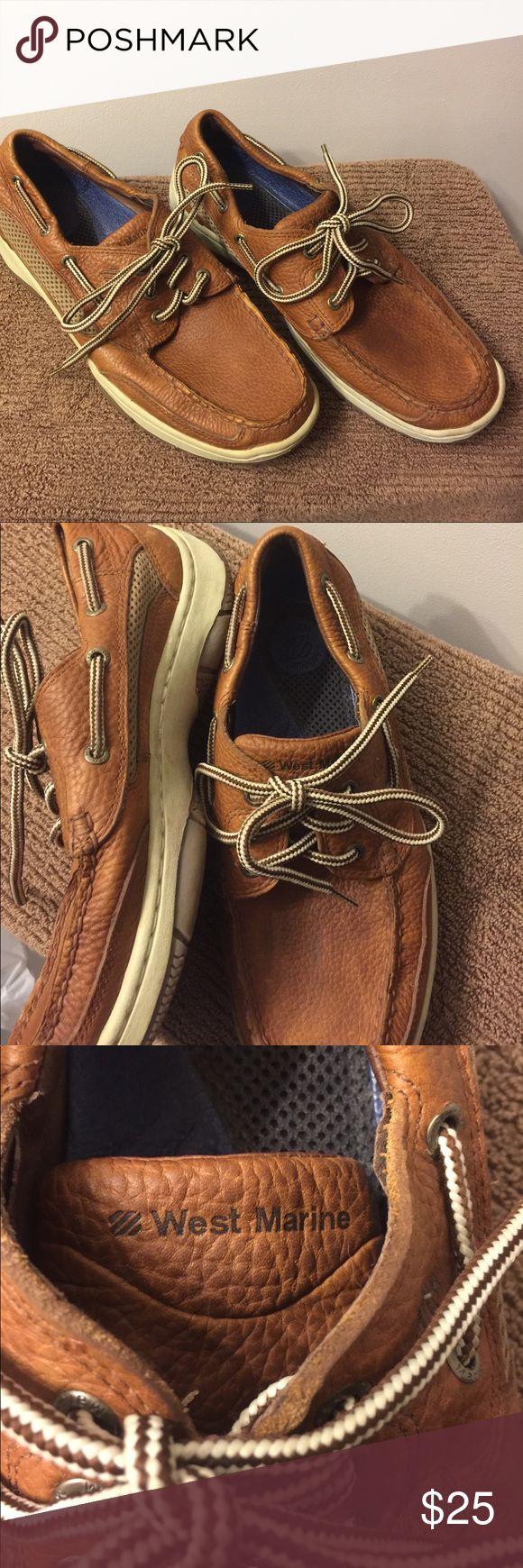 West Marine Dock Shoes Size 8 $25 West Marine Leather Dock Shoes Size 8 $25 West Marine Shoes Boat Shoes