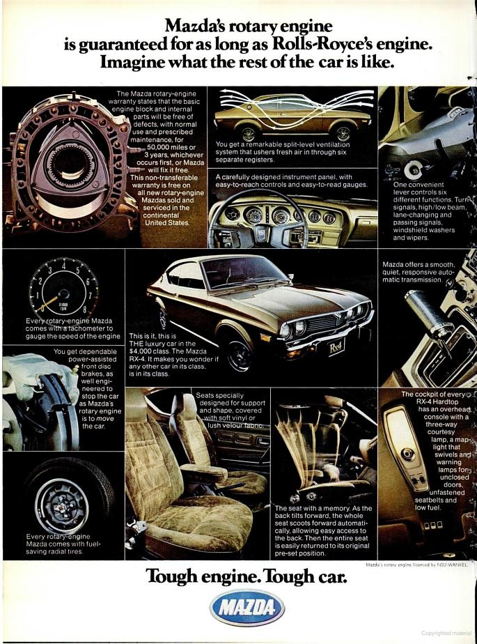 1975 Mazda car ad