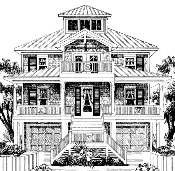 63 best cottages floor plans images on pinterest beach for Beach house plans 1 story