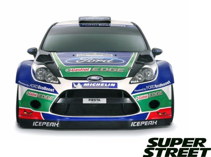 Ford 2012 Fiesta Rs World Rally Car Front Fascia