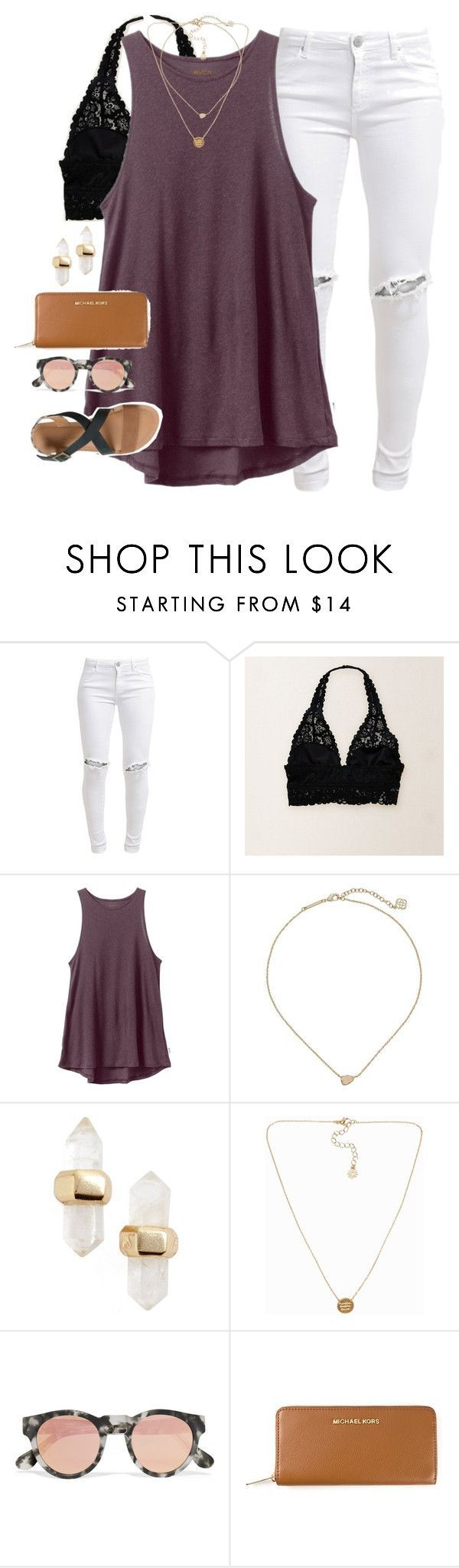 """""""a negative mind will never give you a positive life"""" by emmig02 ❤ liked on Polyvore featuring FiveUnits, Aerie, RVCA, Kendra Scott, Pieces, Westward Leaning, MICHAEL Michael Kors and IPANEMA"""