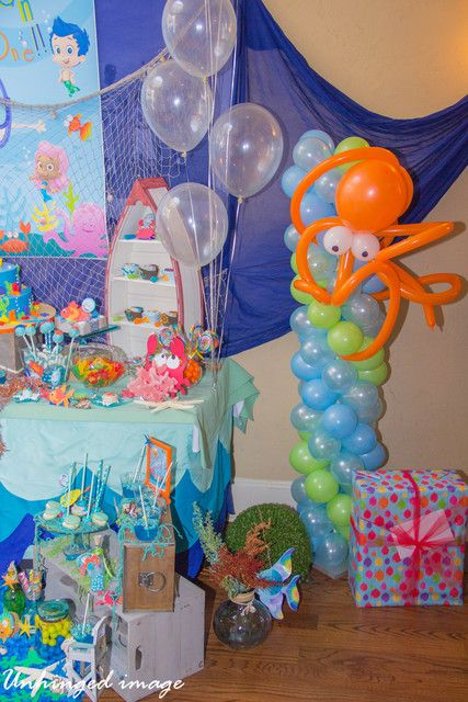 Under water buble guppies birthday party ideas the octopus balloon columns and columns - Bubble guppies party favors ideas ...