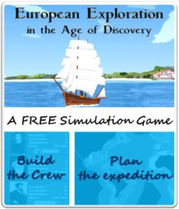European Exploration Free App - Kids learn history via playing. They also learn budgeting, team building, and vonage planning