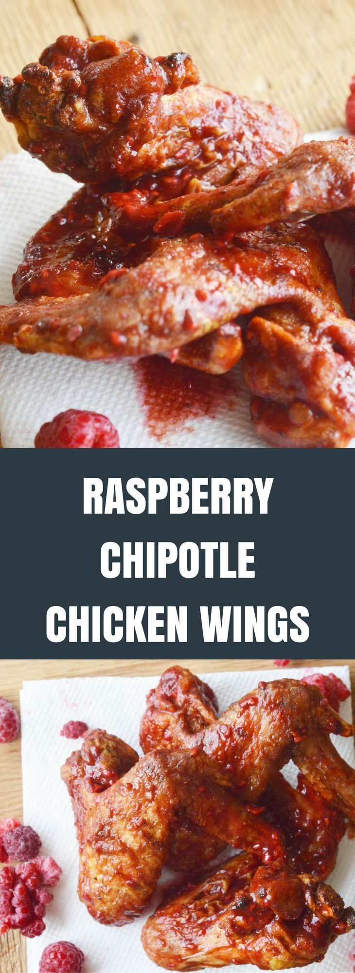 Raspberry Chipotle Chicken Wings Recipe | Sticky Sweet Goodness